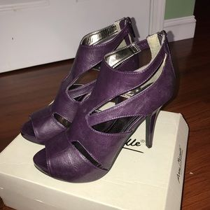 Anne Michelle Purple Heels